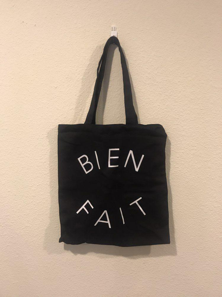 Bien Fait Black Canvas Tote Bag