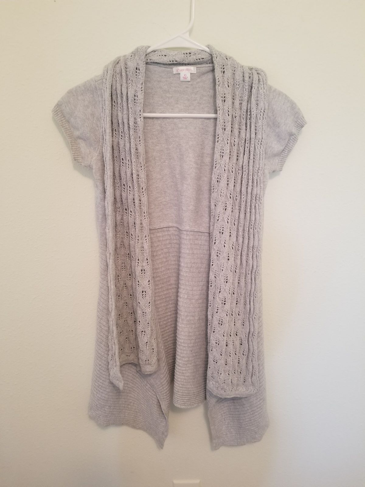 Short sleeve knit cardigan - Mercari: BUY & SELL THINGS YOU LOVE