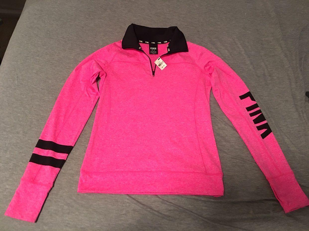 Victoria's Secret Pink Quarter Zip - Mercari: BUY & SELL THINGS ...