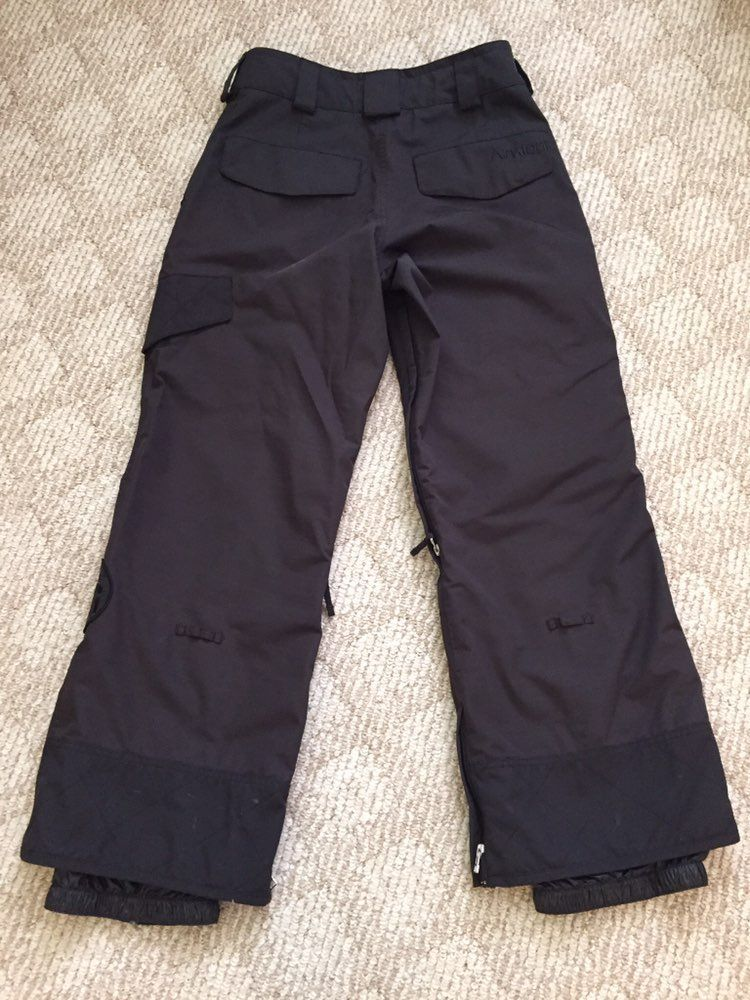 Men's Analog Black Ski Snow Pants Small