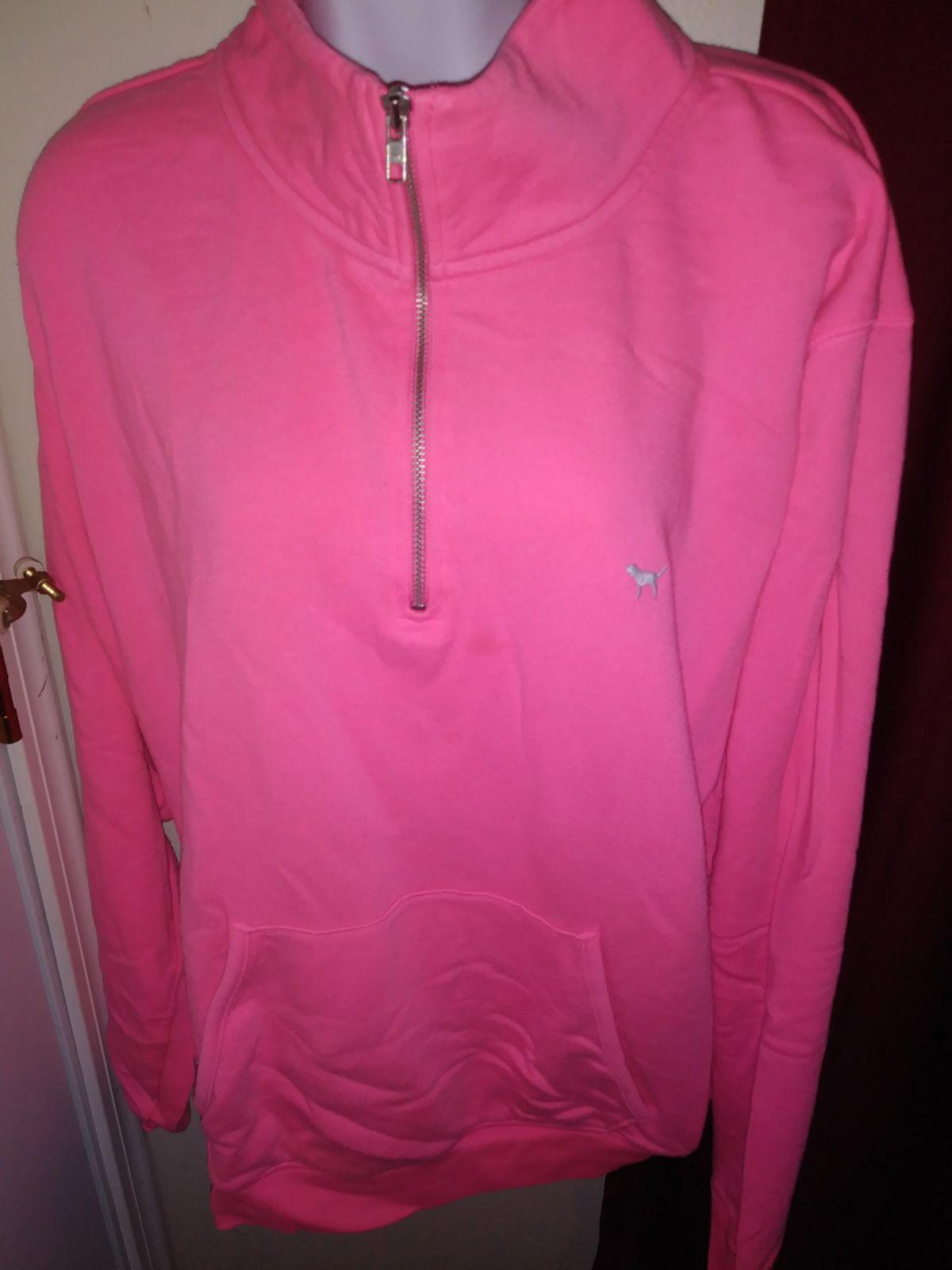 VS Pink half zip sweater sz Large - Mercari: BUY & SELL THINGS YOU ...