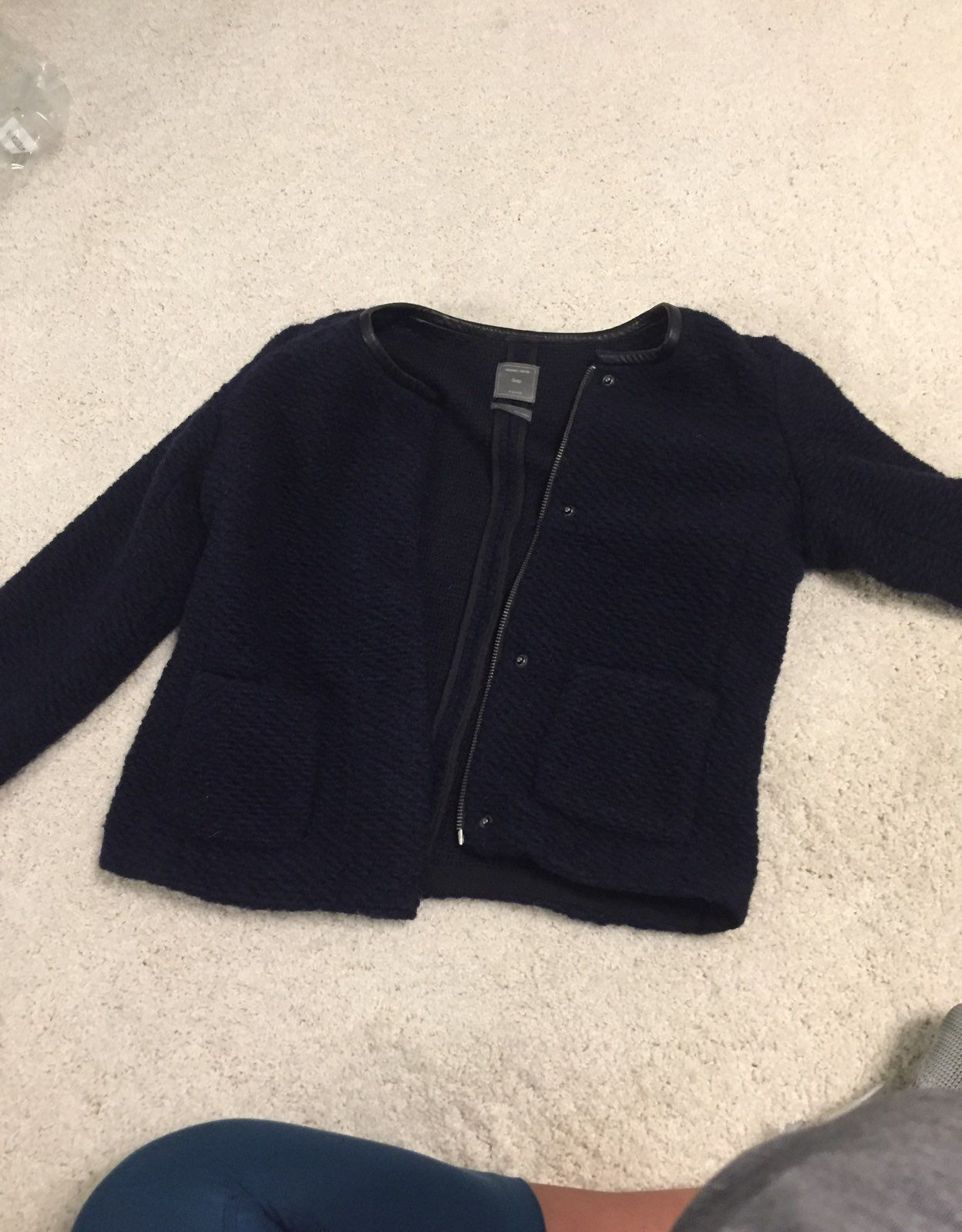 Navy Blue Sweater Jacket - Mercari: BUY & SELL THINGS YOU LOVE