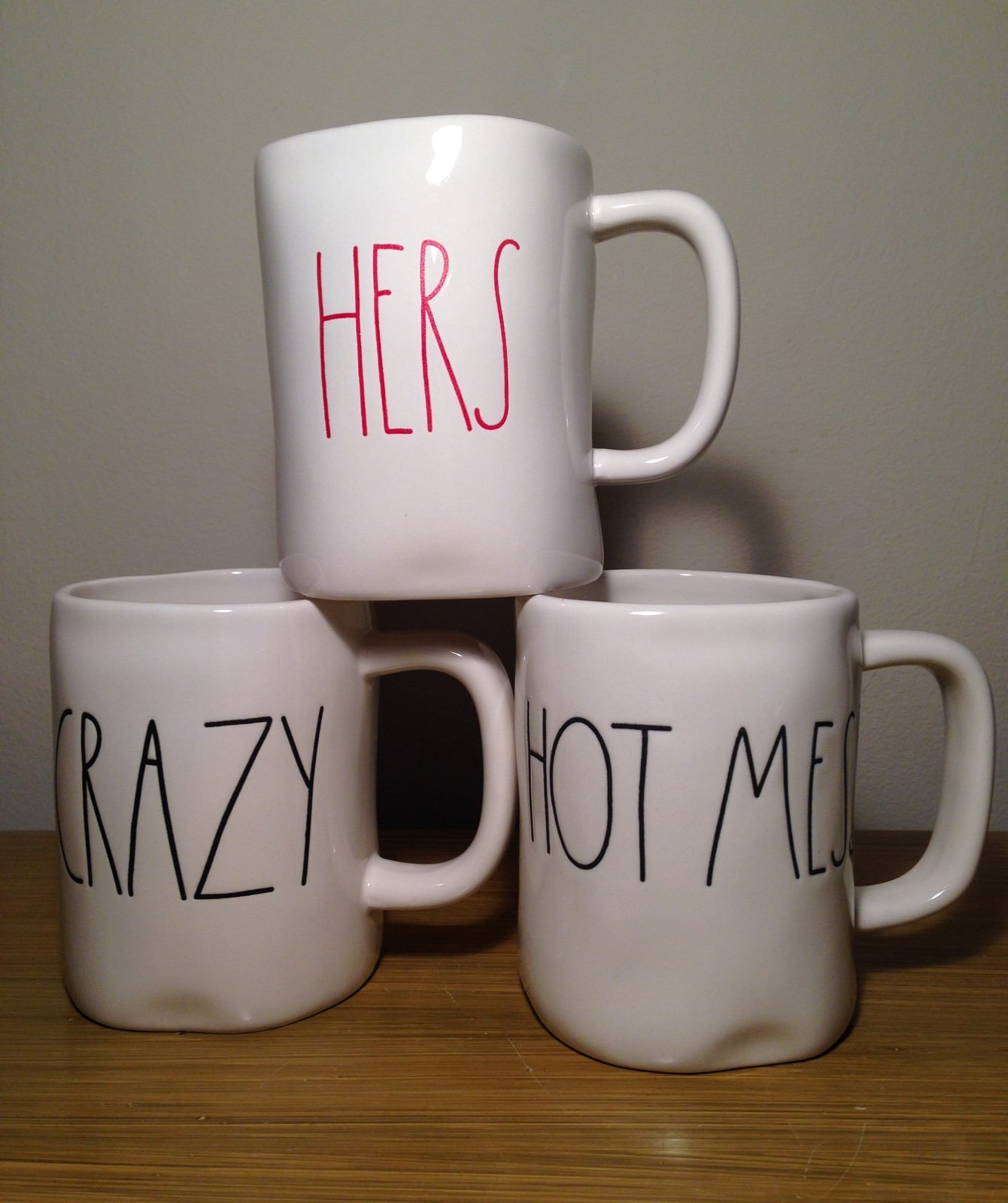 Rae Dunn Hot Mess - Hers - Crazy Mug