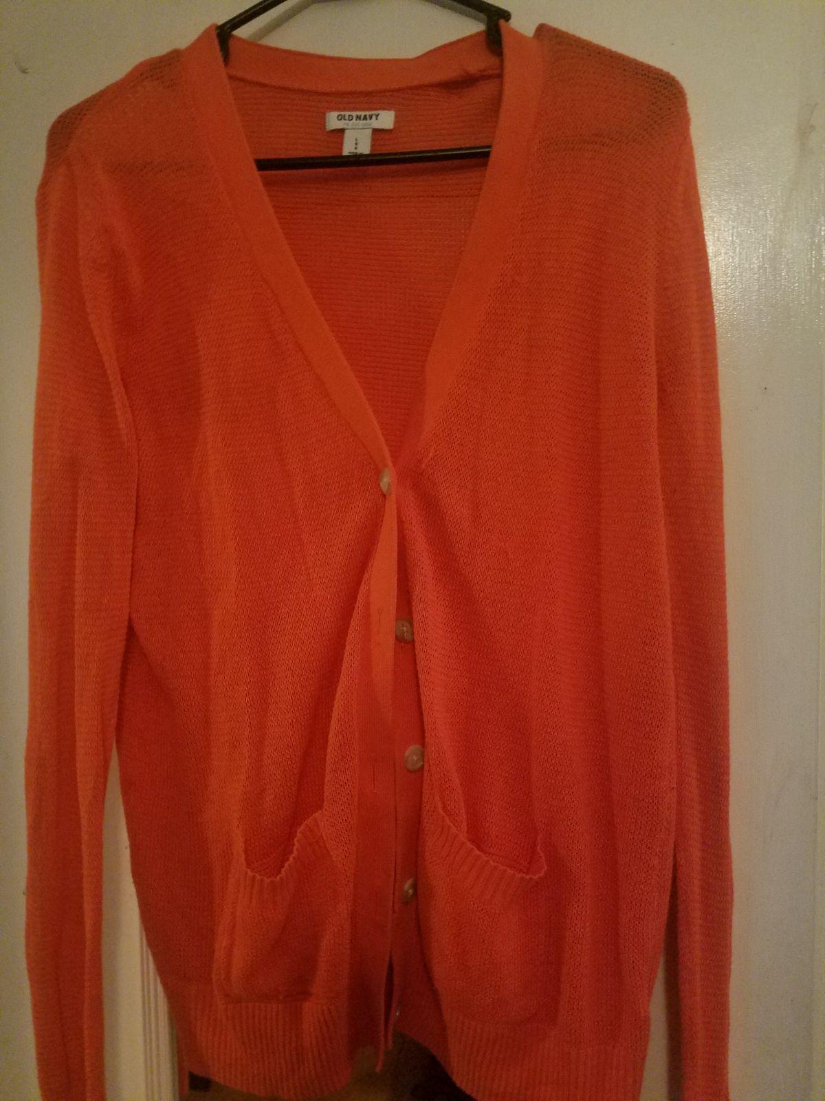 Orange Old navy cardigan size large - Mercari: BUY & SELL THINGS ...