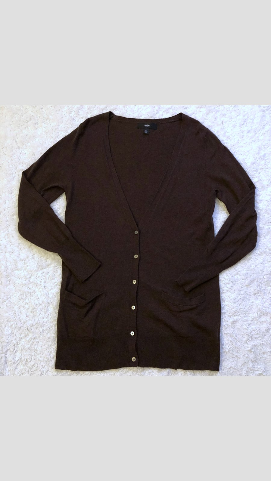 Mossimo Dark Brown Long Cardigan - Mercari: BUY & SELL THINGS YOU LOVE