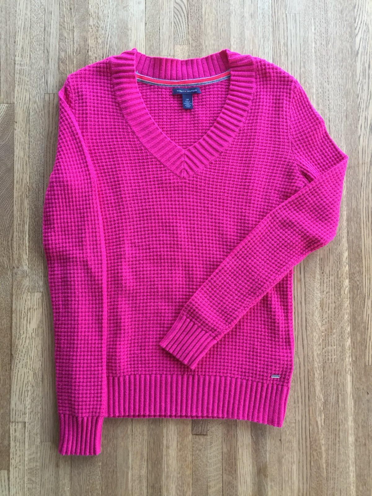 Tommy Hilfiger Pink Sweater - Mercari: BUY & SELL THINGS YOU LOVE