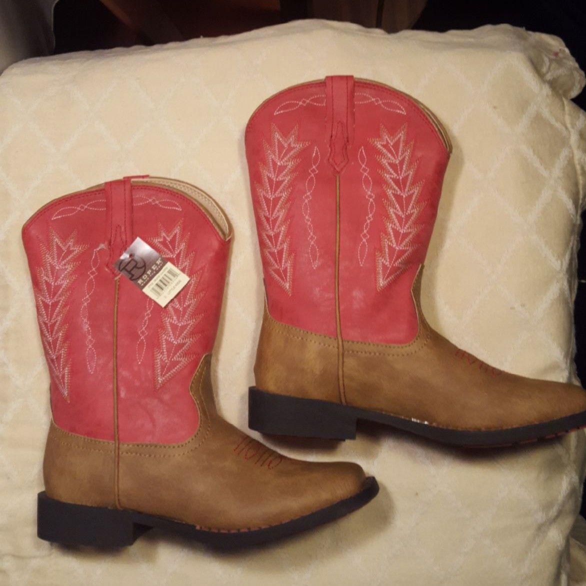 Pink Roper Girls Cowboy Boots