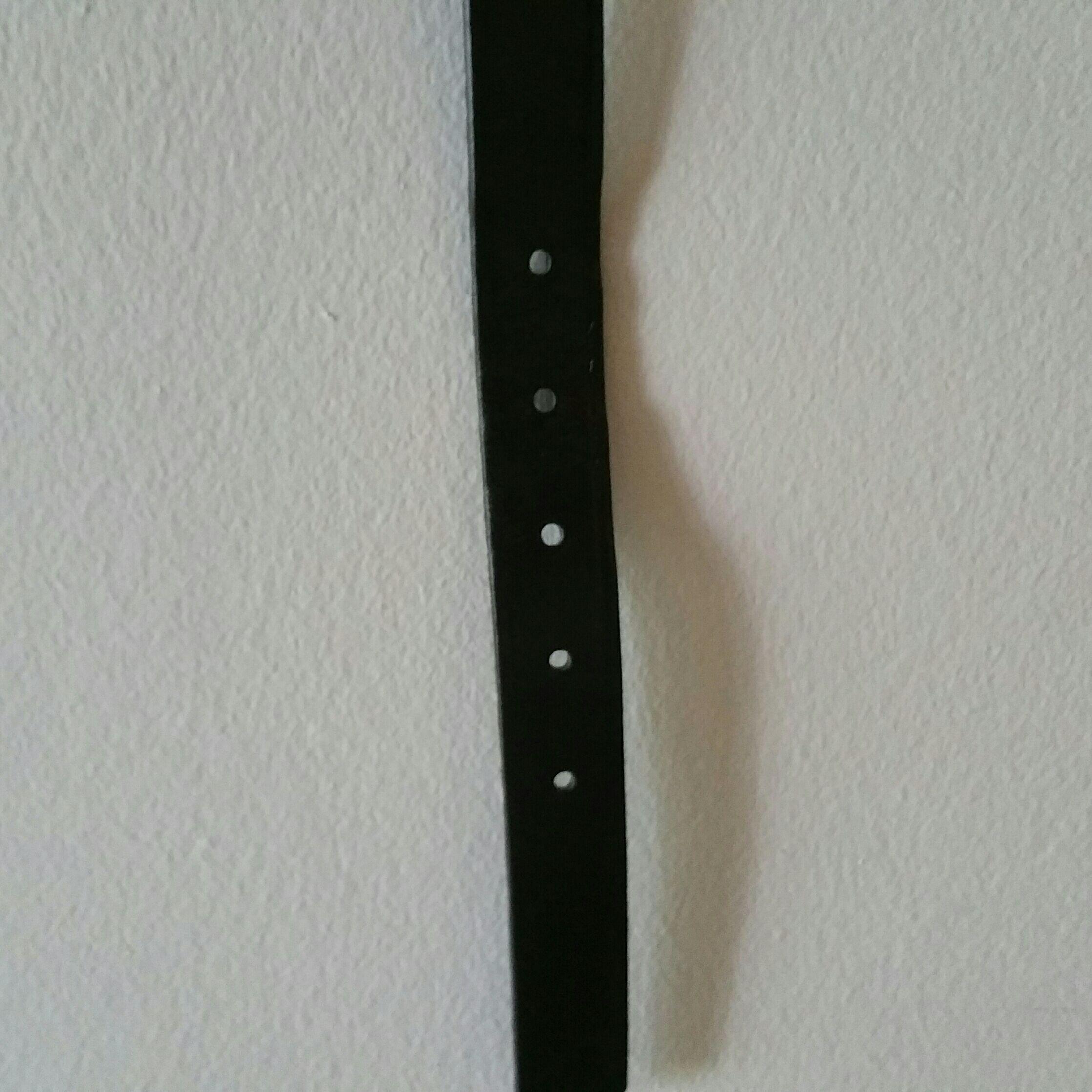 Black leather belt, M/L
