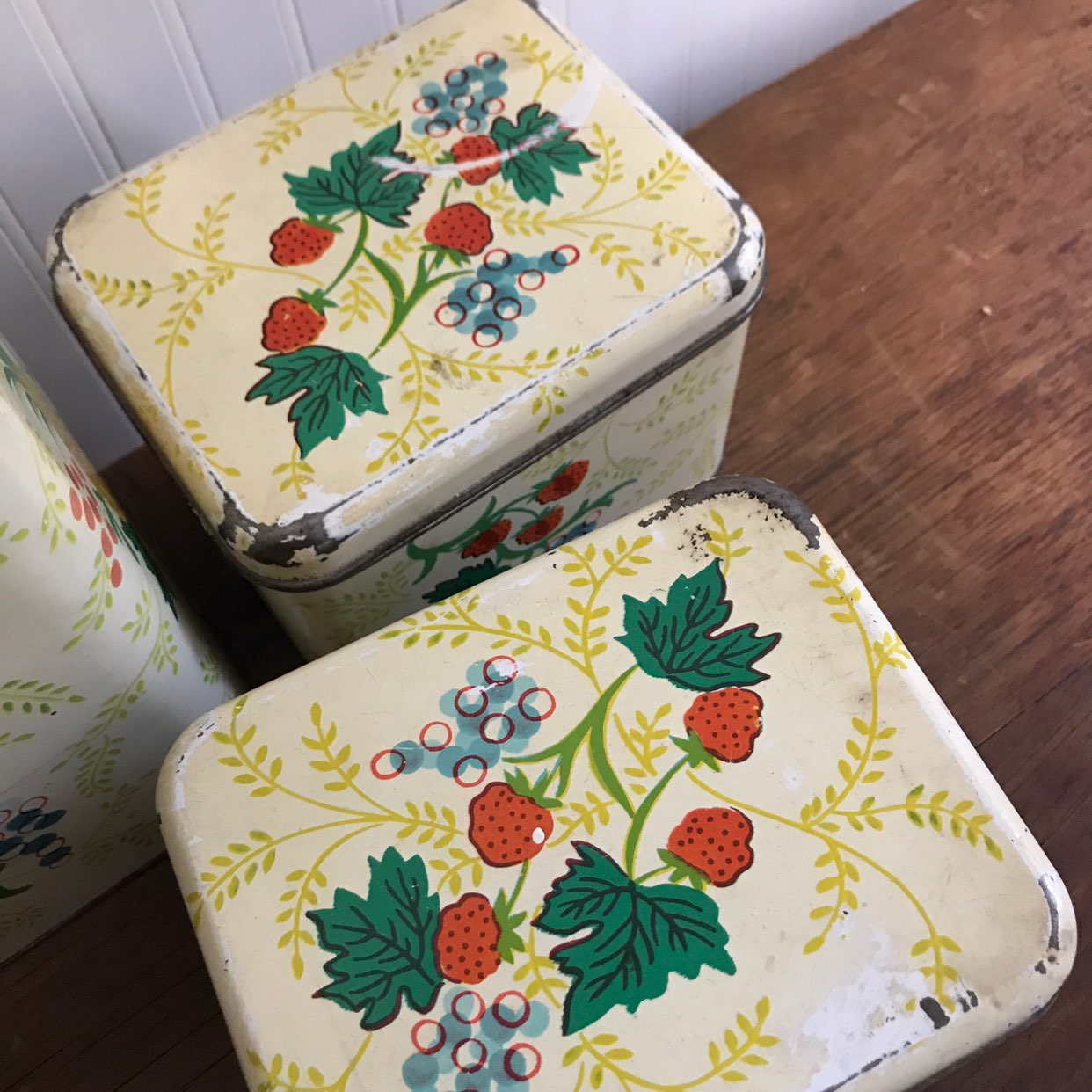 Vtg Cheinco Canister Storage Set of 4