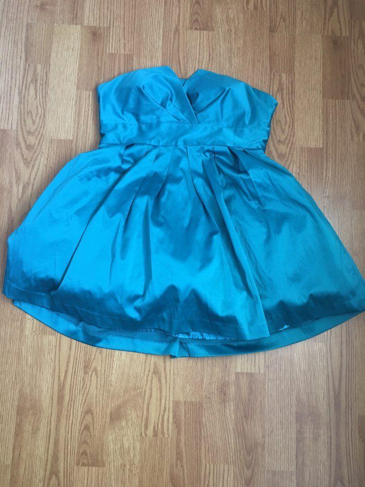 Bright Blue Silk Dress