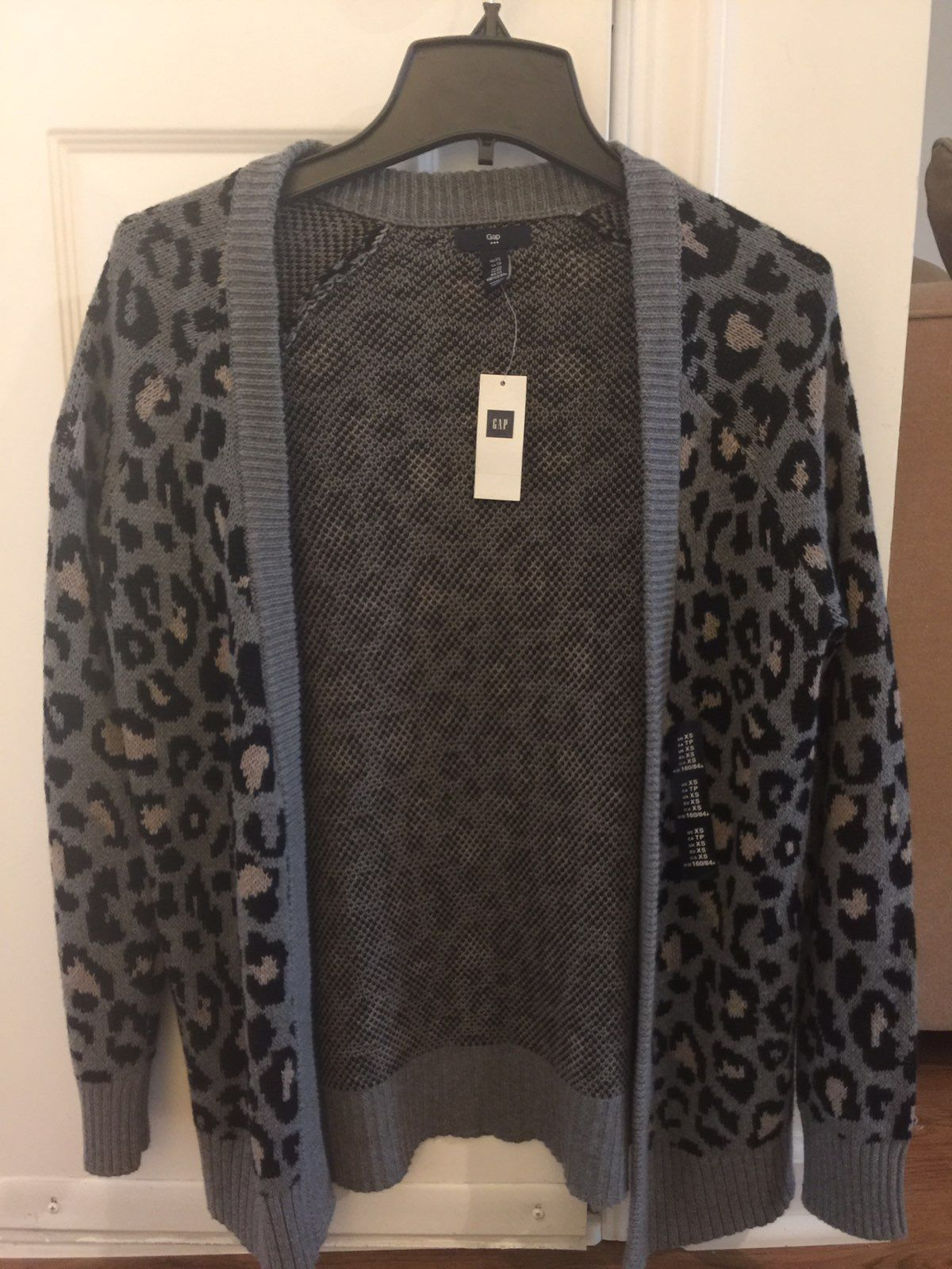 Gap Leopard Print Open Cardigan New - Mercari: BUY & SELL THINGS ...