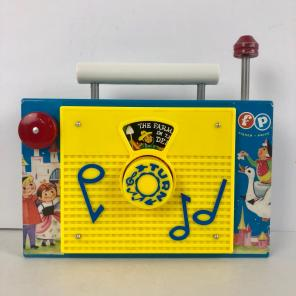 Vintage 1963 Fisher Price TV Radio Toy for sale