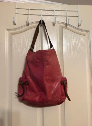 Red Leather Tano Hobo Purse