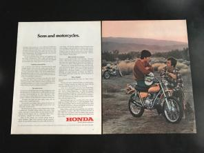 Vintage Ad 1972 Honda Motorcycles for sale