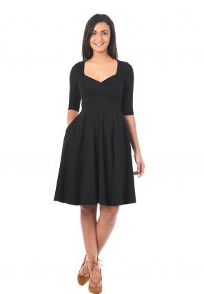 7f901c3c0b710 Eshakti Sweetheart Fit And Flare Dress 3