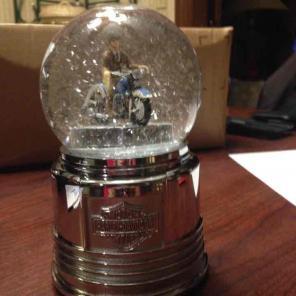 Harley-Davidson motorcycle snow globe for sale