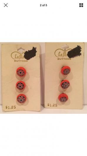 Vtg La Mode Italian Buttons Mod Flower, used for sale
