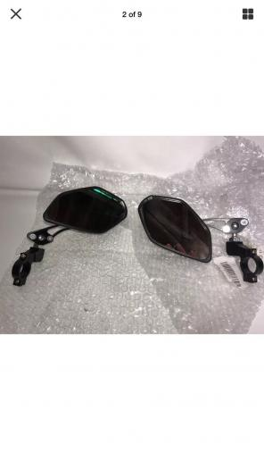 Motorcycle Side View Mirrors Flames New, used for sale