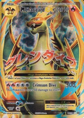 Used, M Mega Charizard EX Pokemon Card Holo for sale