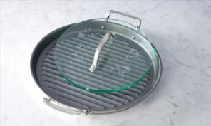 """13"""" Round Grill Pan and Glass Press for sale"""
