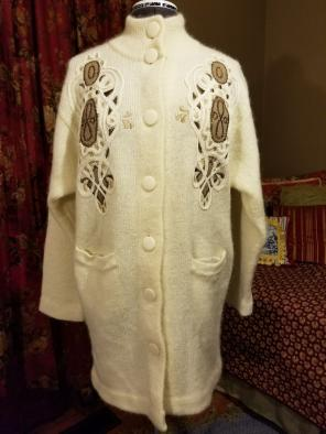 Vintage IB Diffusion Wool Sweater Coat for sale