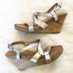 1f73cd307a756d Merona Silver Strappy Wedge Sandals