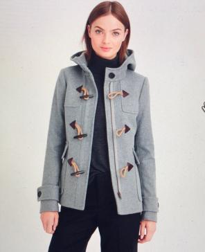 Like New J Crew Classic Duffle Wool Coat 7d381afed791