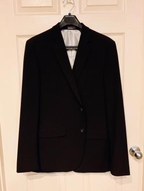 J Ferrar Men's Suit Black (Slim fit) for sale