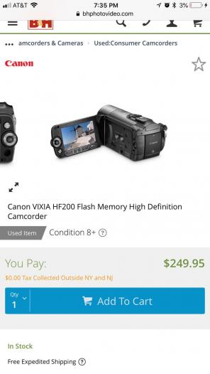 Canon VIXIA HF200 Camcorder for sale