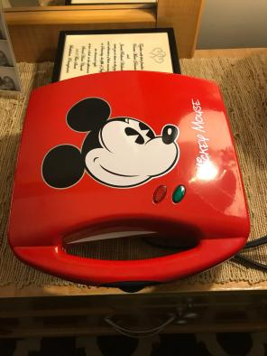 Used, Mickey Mouse Sandwich Press for sale