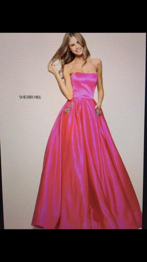 Sherri Hill Strapless Gown Dresses Mercari