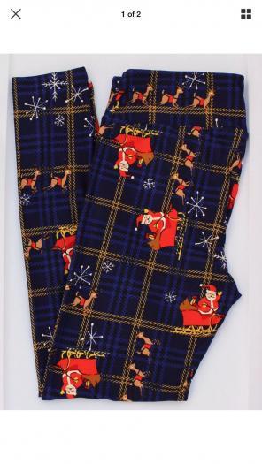 LulaRoe Fair Isle Christmas OS Leggings - Mercari: BUY & SELL ...