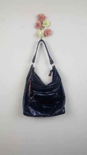 Tano Bucket Front Zip Leather Purse