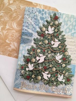 punch studio 12 christmas cards 3d dove