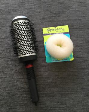 Thermal Round Brush & Hair Donut for sale