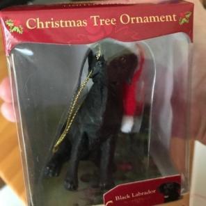 Black Labrador Christmas Ornament New for sale