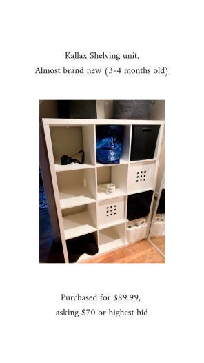 IKEA Kallax Unit, used for sale