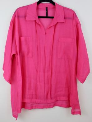 Used, IC by Connie K Fuchsia Pink Blouse XL for sale
