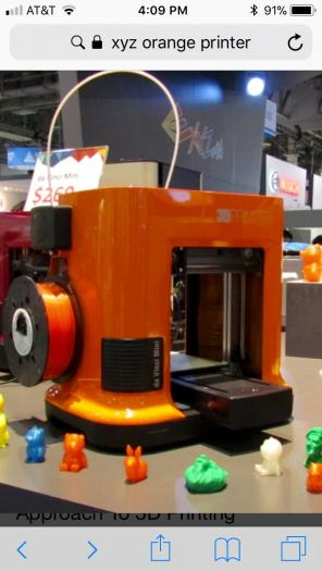 Xyz 3D Printer for sale