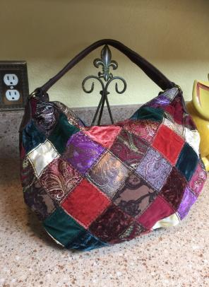 Lucky Brand Patchwork Hobo Bag Adorable