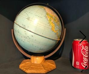 "J. Chein & Company 9"" Metal Globe DESK for sale"