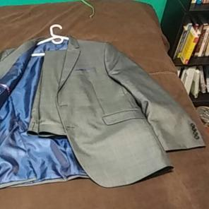 Mens grey suit 46r for sale