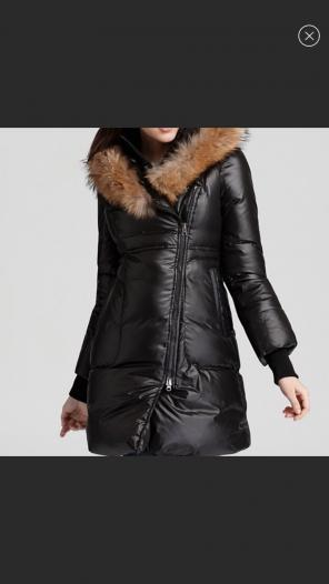 f50f83079427fc ... where to buy mackage mackage liz long down coat with fur trim d607a  504dd