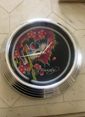 Ed Hardy Light Up Wall Clock