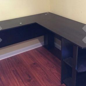 New L-Shaped Desk with Bookshelves for sale