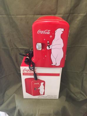 Coca Cola Mini Retro Personal Fridge New for sale