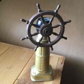 Used, Vintage Old Spice Ships Wheel Decanter for sale