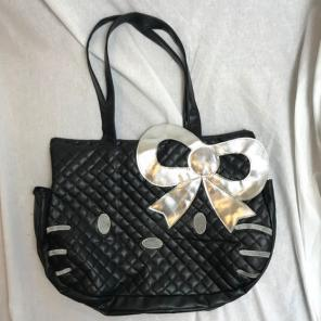 Hello Kitty Black Silver Tote Bag Purse 4afae2e2db