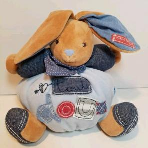 NEW KALOO Blue Denim Lapin Chubby Rabbit, used for sale