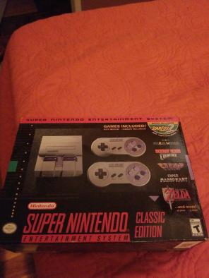 super nintendo classic edition brand new, used for sale